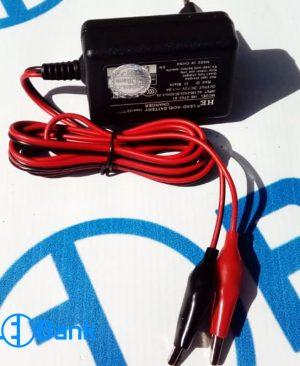 شارژر باتری اتوماتیک خروجی 7.2 ولت 1 آمپر با نمایشگر و گیره سوسماری