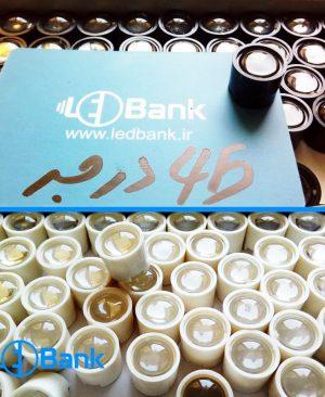 لنز انگشتی شفاف پاور ال ای دی زاویه 45 درجه سفید و مشکی