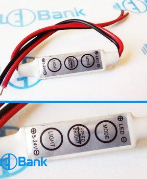 کنترلر آدامسی مینی تک رنگ دستی 6 آمپر ولتاژ ورودی 5 الی 24 ولت