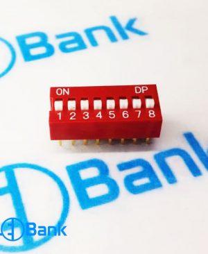 دیپ سوئیچ 8 کلید حالت دکمه کشویی