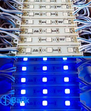 ال ای دی بلوکی آبی چیپ 5054 ولتاژ ورودی 12 ولت برند شاین
