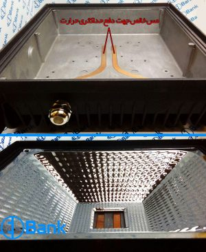 قاب پروژکتور ال ای دی 50، 100 و 200 وات دارای مس و پشت پره جهت دفع حرارت