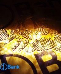 ریسه ال ای دی مدل قلب تزئیناتی رنگ زرد باتری خور