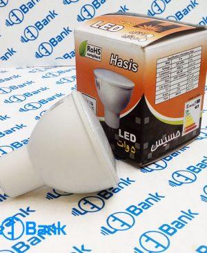 لامپ هالوژنی ال ای دی 5 وات برند حسیس پایه MR16 سفید آفتابی و مهتابی
