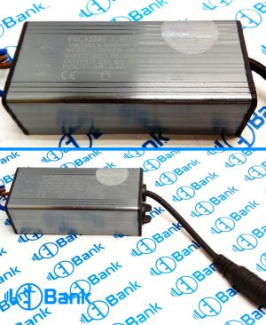 درایور ال ای دی 48-54 وات 60-90 ولت پوشش آلومینیوم سوکت آداپتور