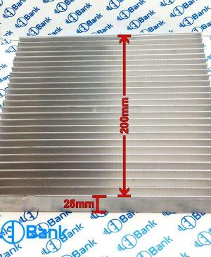 هیت سینک خنک کننده ال ای دی کد h-17762 عرض 200 میلیمتر