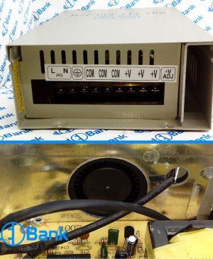منبع تغذیه سوئیچینگ 12 ولت 25 آمپر فن دار ضد باران کیس کشویی برند شاین