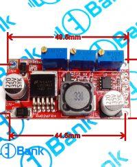 برد ماژول تغذیه dc-dc ورودی 7-35 ولت خروجی 1.25-30 ولت قابل تنظیم LM2596s