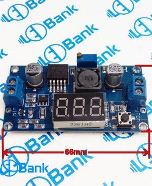 ماژول کاهنده ولتاژ 4-40 ولت dc به 3.3-24 ولت دارای ولتمتر داخلی و نمایشگر LM2596