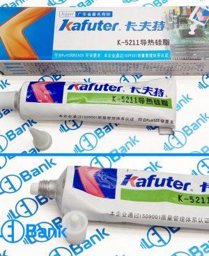 خمیر سیلیکون 60 سفید رنگ شفاف کد k-5211 برند Kafuter