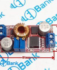 ماژول کاهنده با پتانسیومتر تنظیم جریان 5 آمپر xl4015