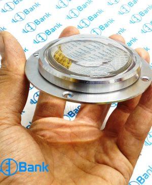 لنز محدب شیشه ایی قطر 66 و 67 میلیمتر همراه با هولدر نگهدارنده سوراخ دار استاندارد