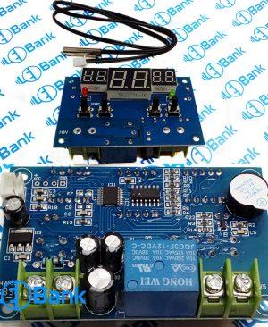 ماژول دما کنترل دیجیتال ولتاژ ورودی 12 ولت با رله 7 آمپر قابل تحمل