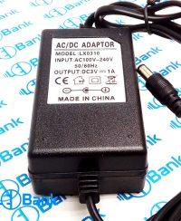 آداپتور رومیزی 3 ولت 1 آمپر ولتاژ ورودی 220 ولت متناوب