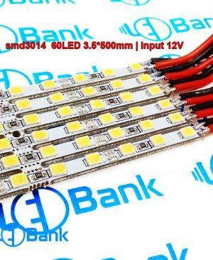 ال ای دی چیپ 3014 عرض 3.5 در 500 میلیمتر قابلیت برش دلخواه ورودی 12 ولت