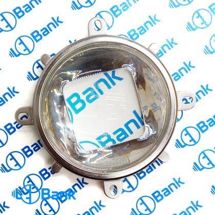 لنز محدب شیشه ایی ال ای دی قطر 78 میلیمتر به همراه رفلکتور و نگهدارنده