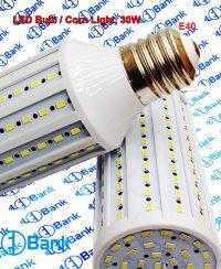 لامپ ذرتی 30 وات سفید مهتابی سرپیچ e40 صنعتی فوق کم مصرف 360 درجه