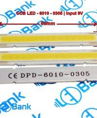 ال ای دی سی او بی خطی سفید مهتابی ولتاژ ورودی 9 ولت طول 60 میلیمتر