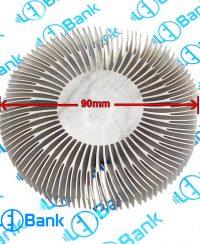 هیت سینک گرد قطر 90 و ارتفاع 10 میلیمتر مناسب نصب فن 8*8 کد 4-110