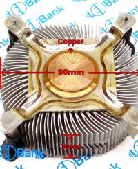 هیت سینک گرد مس دار قطر 90 میلیمتر مناسب نصب فن 8*8 کد 1-110