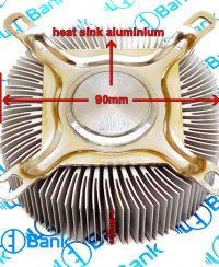 هیت سینک گرد آلومینیوم قطر 90 میلیمتر مناسب نصب فن 8*8 کد 2-110