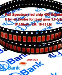 چیپ ال ای دی فول اسپکتروم رشد گیاه 400 - 840 نانومتر 0.5 وات 15 لومن