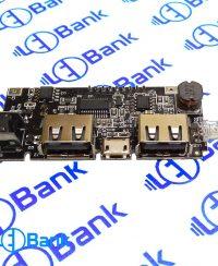 ماژول پاور بانک و شارژر باتری با نمایشگر دارای 2 خروجی 1 و 2.1 آمپر