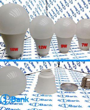 فریم لامپ حبابی پلاستیکی هیت دار با پلیت استاندارد مناسب استفاده برای ماژول های 220 ولت و درایوری