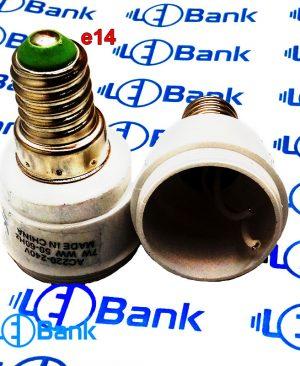 سر پیچ لامپ ال ای دی e14 پرچ شده و سیم دار به همراه هولدر استاندارد