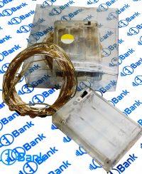 ریسه ال ای دی قابل انعطاف باتری خور مفتولی دارای محفظه باتری قلمی مستحکم همراه با کلید قطع و وصل