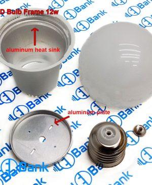 فریم لامپ پلاستیکی ال ای دی 12 الی 15 وات با هیت سینک داخلی جهت دفع حرارت بالا