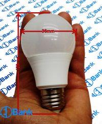 قاب لامپ حبابی پلاستیکی هیت دار با پلیت استاندارد جهت نصب ماژول ال ای دی 7 وات وغیره...