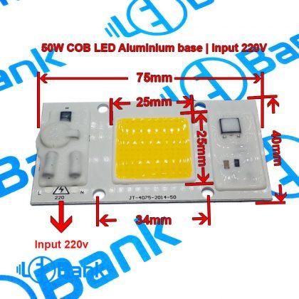 ال ای دی 50 وات آفتابی ورودی ولتاژ 220 ولت پاورفکتور بالا برق شهری مستقیم