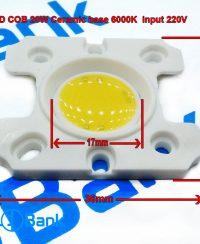 ال ای دی 20 وات 220 ولت سفید مهتابی 19 در 19 میلیمتر سرامیکی دارای محافظ در برابر نوسان ولتاژ