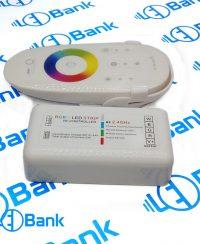 کنترل کننده ال ای دی rgb و یک کانال سفید با ریموت رادیویی تاچ 12 الی 24 ولت با حداکثر جریان 24 آمپر