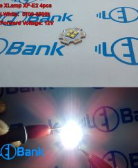 ال ای دی 12 ولت کری 4 چیپ cree xlamp xp-e2 سفید مهتابی قطر پی سی بی 20 میلیمتر