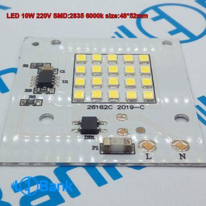 ال ای دی 10 وات ذرتی سفید مهتابی ولتاژ ورودی 220 ولت شهری 48 در 52 میلیمتر