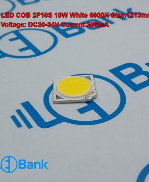 ال ای دی 10 وات مهتابی 13 در 13 به قطر فسفر 11 میلیمتر ولتاژ ورودی 30 الی 34 ولت جریان 300 میلی آمپر