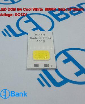 ال ای دی 5 وات زنون سفید سرد ولتاژ ورودی 12 ولت ابعاد پی سی بی 15 در 30 میلیمتر