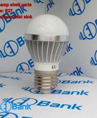 قاب لامپ حبابی ال ای دی 3 وات آلومینیومی همراه با پی سی بی استاندارد