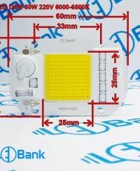 ال ای دی مهتابی 50 وات مستقیم برق 220 ولت خانگی پاور فکتور بالای 90 درصد
