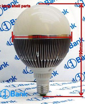 قاب لامپ ال ای دی 27 وات بدنه تمام آلومینیوم با پی سی بی یا آماده برای نصب انواع ماژول 220 ولت و غیره