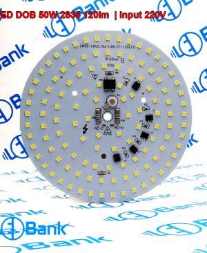 ال ای دی 50 وات گرد مهتابی ورودی 220 ولت میزان روشنایی 120 الی 125 لومن بر وات چیپست 2835 بر پایه مس حرارت کمتر