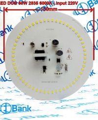 ال ای دی 50 وات گرد مهتابی ورودی 220 ولت طراحی منحصر به فرد برای ساخت لامپ حبابی قطر 130 میلیمتر