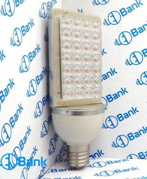 قاب لامپ ال ای دی لنز دار همراه با پی سی بی استاندارد 28 وات بدنه تمام آلومینیوم سرپیچ e40