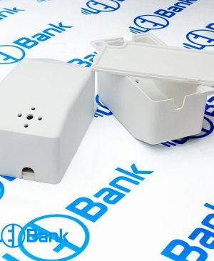 جعبه درایور ال ای دی پلاستیکی سفید با کیفیت ابعاد 67 در 35 میلیمتر