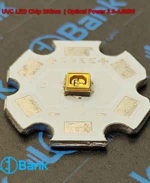 ال ای دی اشعه ماورا بنفش 265 نانومتر کاربرد یو وی سی توان 4.0-3.8 مگا وات صنایع هوا فضا و استریل