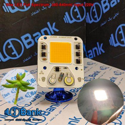ال ای دی 50 وات فول اسپکتروم دقیقا نور خورشید 380 الی 840 نانومتر بدون نیاز به درایور