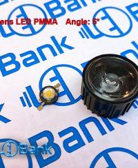 لنز پاور ال ای دی 5 درجه هولدر مشکی جنس Pmma قطر 22.19 و ارتفاع 14.29