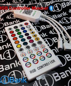 کنترلر ال ای دی rgb موزیکال قابلیت اتصال توسط بلوتوث و ریموت 40 کلید دارای 2 خروجی